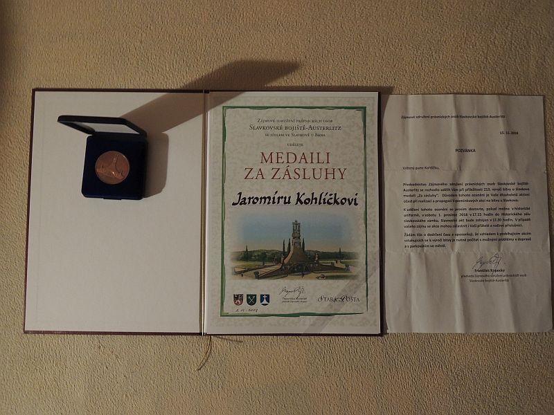 medaile Slavkov