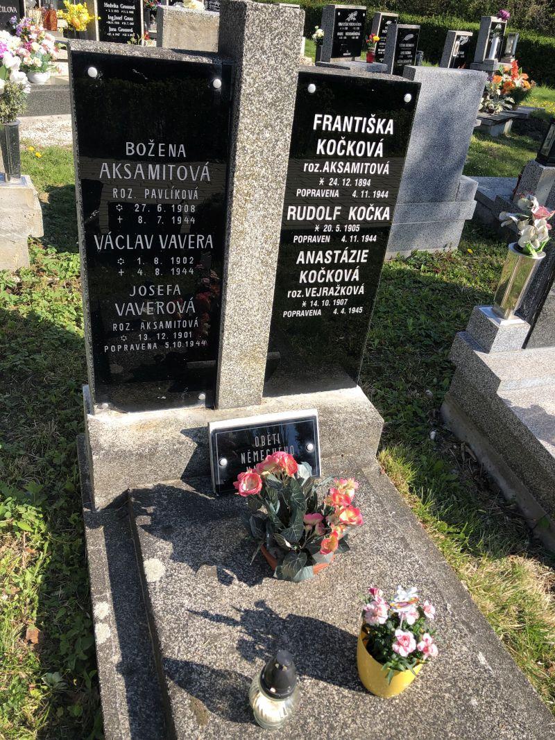 Hrob jeho popravených příbuzných