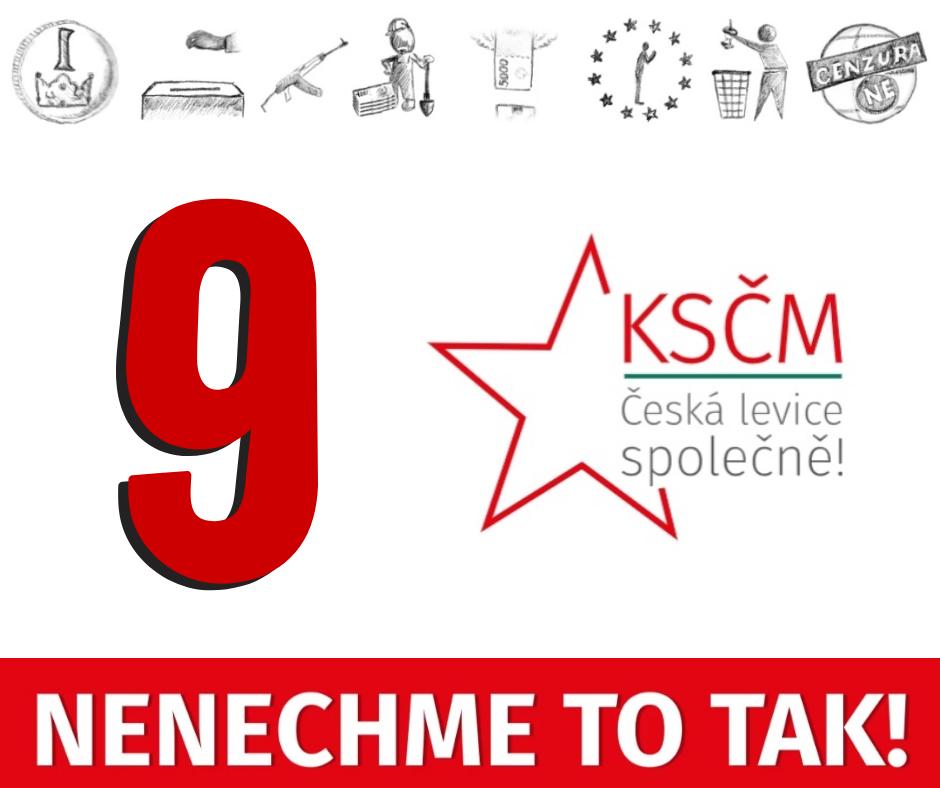KSČM má pro volby do EP číslo 9