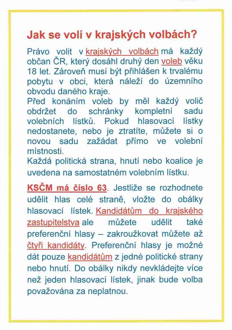jak se volí v krajských volbách