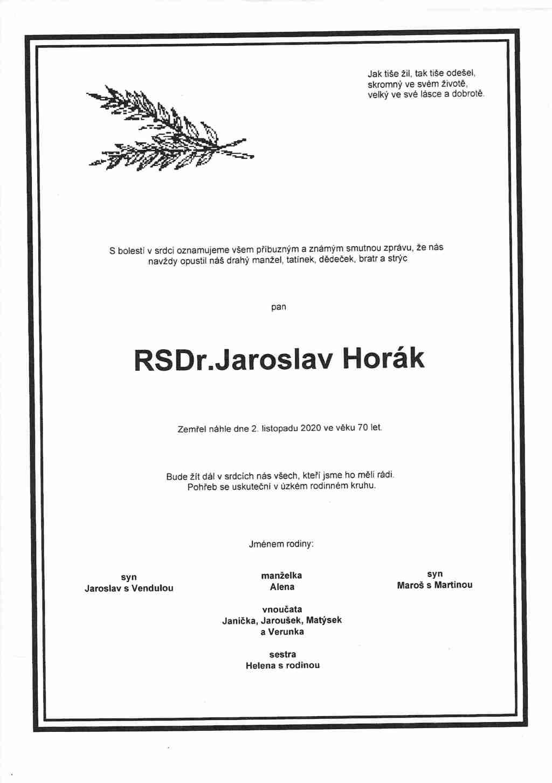 PARTE RSDr. Horák Jaroslav