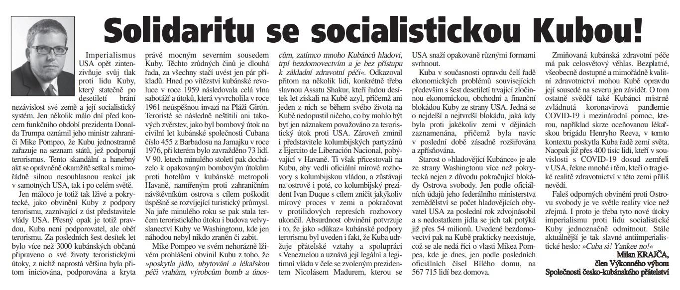 solidaritu_se_socialistickou_kubou_milan_krajca_halo_noviny