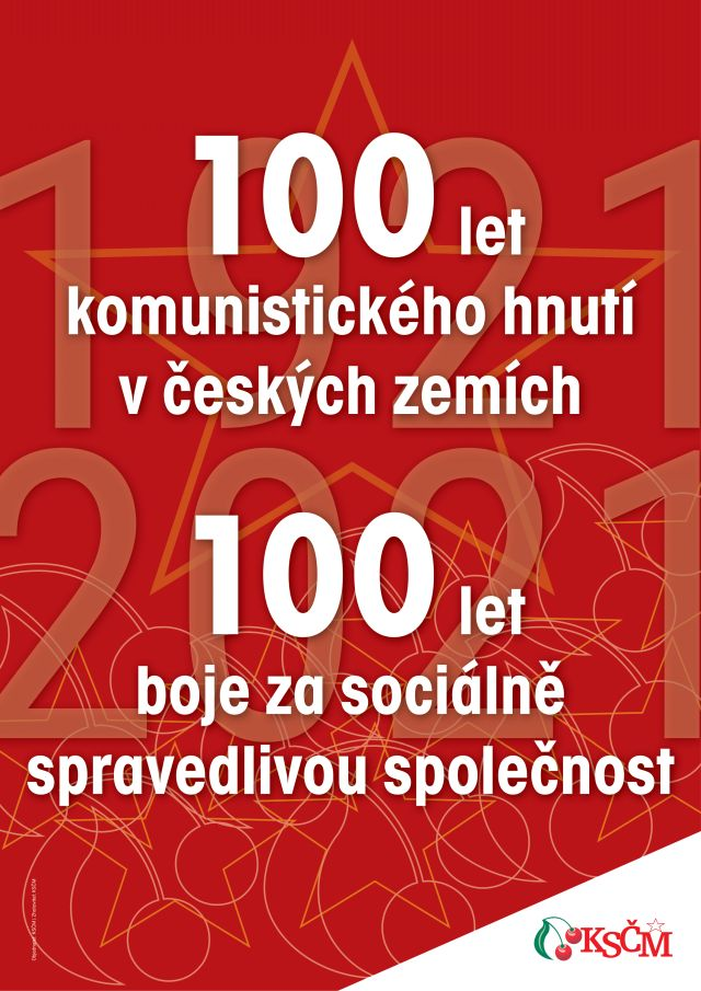 plakát 100 let KSČ