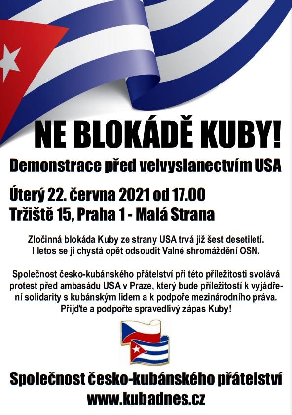 demonstrace_proti_blokade_kuby_22_6_2021